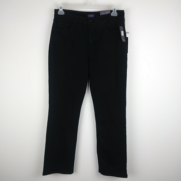 NYDJ Denim - NWT NYDJ Black Straight Leg Jeans Plus Size 14